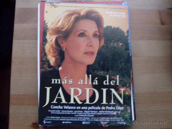 MAS ALLA DEL JARDIN - CONCHA VELASCO, MANUEL BANDERA - GUIA ORIGINAL (Cine - Guías Publicitarias de Películas )