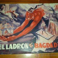Cine: GUIA EL LADRON DE BAGDAD CON FOTOS 1940 CINE. Lote 20269335