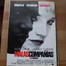 Cine: MALAS COMPAÑIAS - ELLEN BARKIN, LAURENCE FISHBURNE, FRANK LANGELLA - GUIA ORIGINAL BUENAVISTA 1995. Lote 20316820