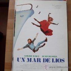 Cine: UN MAR DE LIOS - KURT RUSSELL, GOLDIE HAWN - GUIA ORIGINAL U.I.P AÑO 1987. Lote 195427362