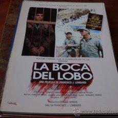 Cine: LA BOCA DEL LOBO ( GUSTAVO BUENO Y TOÑO VEGA). Lote 24361864