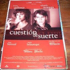 Cine: CUESTION DE SUERTE - ANNA GALIENA, EDUARDO NORIEGA - GUIA ORIGINAL ALTA FILMS AÑO 1996. Lote 20466201