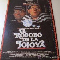 Cine: EL ROBOBO DE LA JOJOYA ( TERELE PAVEZ Y ANABEL ALONSO ) MARTES Y TRECE. Lote 20504735