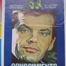 Cine: CONOCIMIENTO CARNAL - JACK NICHOLSON - GUIA PUBLICITARIA ORIGINAL DEL ESTRENO. Lote 25867630