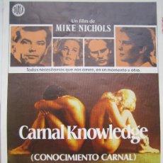 Cine: CONOCIMIENTO CARNAL - JACK NICHOLSON - GUIA PUBLICITARIA ORIGINAL DEL ESTRENO. Lote 20542528