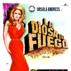 Cine: LA DIOSA DEL FUEGO (GUIA ORIGINAL ESTRENO ESPAÑA CON FOTOS) URSULA ANDRESS-PETER CUSHING. Lote 42348104