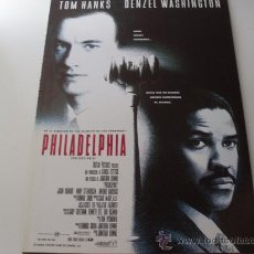 Cine: PHILADELPHIA - TOM HANKS,DENZEL WASHINGTON,ANTONIO BANDERAS - GUIA ORIGINAL COLUMBIA AÑO 1993. Lote 25003109