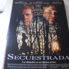 Cine: SECUESTRADA ( JEFF BRIDGES Y KIEFER SUTHERLAND ). Lote 25142943