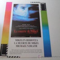 Cine: LA MUERTE DE MIKEL ( IMANOL ARIAS ) IMANOL URIBE. Lote 20700542