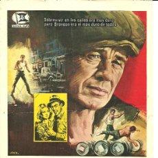 Cine: GUIA PUBLICITARIA ILUSTRADA POR JANO,BRONSON,EL LUCHADOR,,ORIGINAL. Lote 24230683