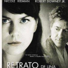 Cine: RETRATO DE UNA OBSESION, GUIA ORIGINAL DOBLE, NICOLE KIDMAN. Lote 20910437