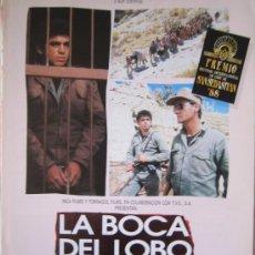 Cinéma: LA BOCA DEL LOBO LOMBARDI - GUIA PUBLICITARIA ORIGINAL ESTRENO. Lote 21245331