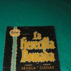 Cine: LA FIERECILLA DOMADA CON PUBLICIDAD CINE PALAFOX DE ZARAGOZA 1956. Lote 26169395
