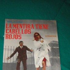 Cine: LA MENTIRA TIENE CABELLOS ROJOS GUIA PUBLICITARIA - ANALIA GADE , ARTURO FERNANDEZ. Lote 26206426