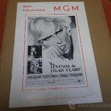 Cine: LA LEYENDA DE LYLAH CLARE, KIM NOVACK, MGM, 8 PÁGINAS.. Lote 22717467