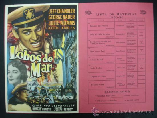 Cine: UNIVERSAL INTERNATIONAL. PRESENTACIÓN 1955 - 1956. SOLO EL CIELO LO SABE, REGRESO DEL INFIERNO,..... - Foto 6 - 22826667