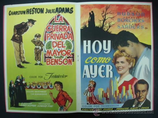 Cine: UNIVERSAL INTERNATIONAL. PRESENTACIÓN 1955 - 1956. SOLO EL CIELO LO SABE, REGRESO DEL INFIERNO,..... - Foto 5 - 22826667