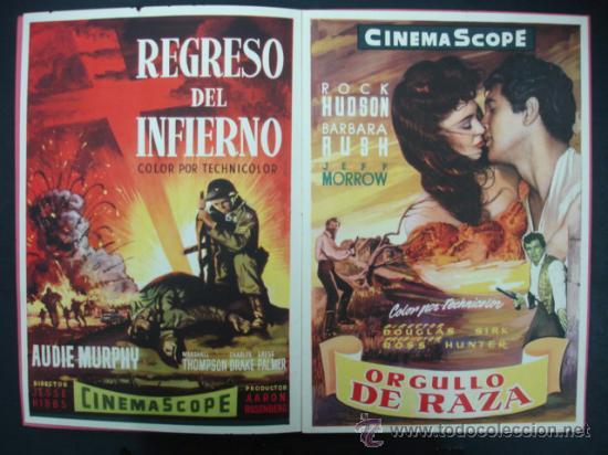 Cine: UNIVERSAL INTERNATIONAL. PRESENTACIÓN 1955 - 1956. SOLO EL CIELO LO SABE, REGRESO DEL INFIERNO,..... - Foto 4 - 22826667