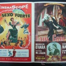Cine: UNIVERSAL INTERNATIONAL. PRESENTACIÓN 1955 - 1956. SOLO EL CIELO LO SABE, REGRESO DEL INFIERNO,...... Lote 22826667