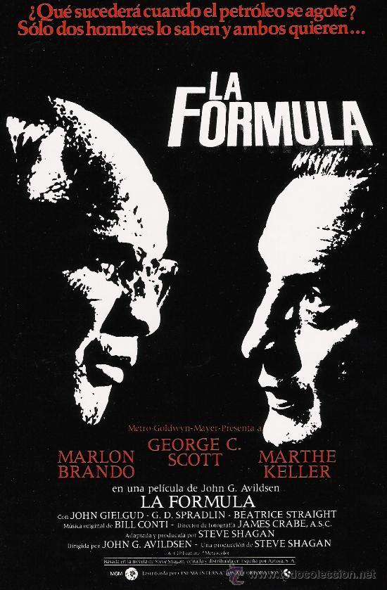 LA FORMULA GUIA ORIGINAL DOBLE MARLON BRANDO (Cine - Guías Publicitarias de Películas )