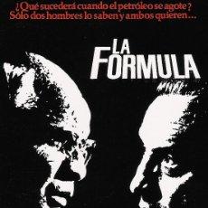 Cine: LA FORMULA GUIA ORIGINAL DOBLE MARLON BRANDO. Lote 23026764
