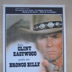 Cine: BRONCO BILLY CLINT EASTWOOD - GUIA PUBLICITARIA ORIGINAL ESTRENO. Lote 23087370