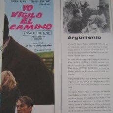 Cine: YO VIGILO EL CAMINO GREGORY PECK - GUIA PUBLICITARIA ORIGINAL DEL ESTRENO . Lote 24052178