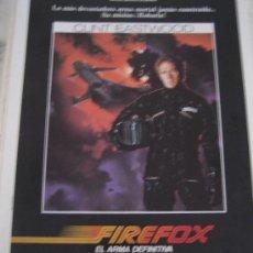 Cine: FIREFOX CLINT EASTWOOD - GUIA PUBLICITARIA ORIGINAL DEL ESTRENO. Lote 24052681