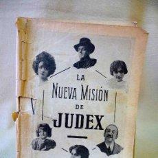 Cine: NOVELA CINEMATOGRAFICA, LA NUEVA MISION DE JUDEX, 1918, RENE CRESTE, MISS GILES, BORGUESE, GAUMONT. Lote 24174319