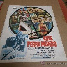 Cine: ESTE PERRO MUNDO, PROCINES, GUIA ORIGINAL, 1964, 12 PAGINAS. 29,5X23,5 CMS.. Lote 24508917