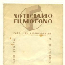 Cine: NOTICIARIO FILMOFONO 1944 - GUIA EMPRESARIAL DE 20 PGS.. Lote 26869655