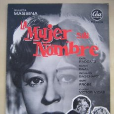 a4e21f2192 LA MUJER SIN NOMBRE GIULIETA MASSINA - GUIA PUBLICITARIA ORIGINAL DEL ESTRENO  CEA FILMS
