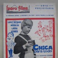 Cine: CHICA PARA TODO GRACITA MORALES -GUIA PUBLICITARIA ORIGINAL ESTRENO. Lote 24602269
