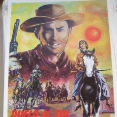 Cine: GUIA PUBLICITARIA ORIGINAL REPOSICION- DUELO AL SOL GREGORY PECK WESTERN. Lote 24894042