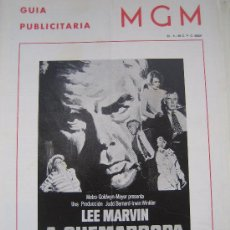 Cine: GUIA PUBLICITARIA ORIGINAL ESTRENO- A QUEMARROPA ANGIE DICKINSON LEE MARVIN. Lote 24894050