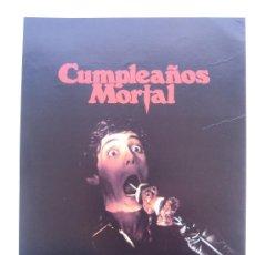 Cine: GUIA PUBLICITARIA ORIGINAL - CUMPLEÑOS MORTAL TERROR- LOTE 15 GUIAS A 30 EUROS. Lote 24935563