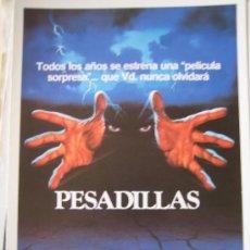 Cine: GUIA PUBLICITARIA ORIGINAL - PESADILLAS TERROR - LOTE 15 GUIAS 30 EUROS. Lote 25051537