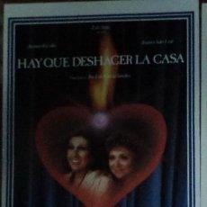 Cine: HAY QUE DESHACER LA CASA, AMPARO RIVELLES, AMPARO SOLER LEAL. Lote 25388157