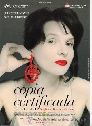 GUIA ORIGINAL SENCILLA COPIA CERTIFICADA ESTRENO JULIETTE BINOCHE (Cine - Guías Publicitarias de Películas )