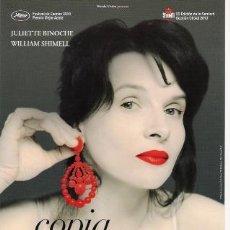 Cine: GUIA ORIGINAL SENCILLA COPIA CERTIFICADA ESTRENO JULIETTE BINOCHE. Lote 25419305