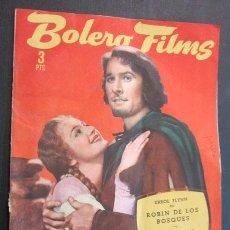 Cine: BOLERO FILMS. ERROL FLYNN EN ROBIN DE LOS BOSQUES. JOAN FONTAINE EN CARTA DE UNA DESCONOCIDA. WARNER. Lote 221654945