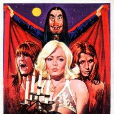 Cine: LAS ALEGRES VAMPIRAS DE VOGEL 1975 (GUIA ORIGINAL SIMPLE)MARIA JOSE CANTUDO - AGATA LYS - DISEÑO MAC. Lote 58920595
