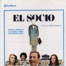 Cine: EL SOCIO. GUÍA PUBLICITARIA DE IZARO FILMS.. Lote 26241696