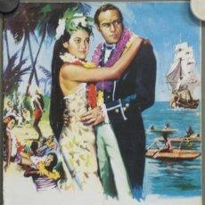Cine: G3774 REBELION A BORDO MARLON BRANDO LEWIS MILESTONE GUIA ORIGINAL MGM ESTRENO. Lote 26432344