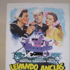 Cine: LEVANDO ANCLAS FRANK SINATRA - GUIA PUBLICITARIA ORIGINAL REPOSICION. Lote 27155747