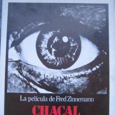 Cine: CHACAL - GUIA PUBLICITARIA ORIGINAL ESTRENO- LOTE 15 GUIAS A 30 EUROS. Lote 27552886