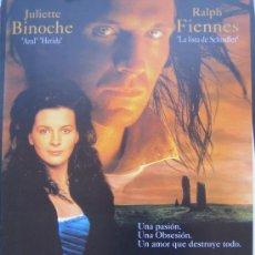 Cine: CUMBRES BORRASCOSAS JULIETTE BINOCHE - GUIA PUBLICITARIA ORIGINAL ESTRENO EMILY BRONTË. Lote 27553007