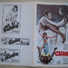 Cine: CUMBIA - GUIA PUBLICITARIA ORIGINAL ESTRENO- NO ENTRA EN LOTES. Lote 27553311
