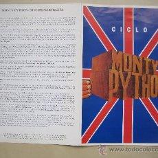 Cine: CICLO MONTY PYTHON- GUIA PUBLICITARIA ORIGINAL ESTRENO - LOTE 15 GUIAS A 30 EUROS. Lote 27900032