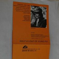 Cine: HALF A LOAF OF KUNG FU - JACKIE CHAN - GUIA ORIGINAL + TRANSPARENCIA - APRENDIZ DE KUNG FU. Lote 28003427